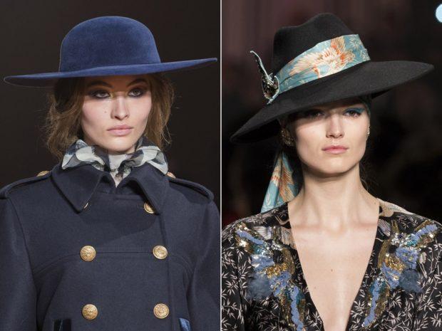 Какую шапку носить с курткой: широкие поля синяя черная