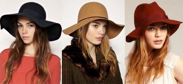Какую шапку носить с курткой: широкие поля фетровые черная бежевая бордовая