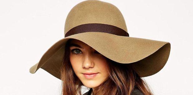 Какую шапку носить с курткой: широкие поля фетровая коричневая