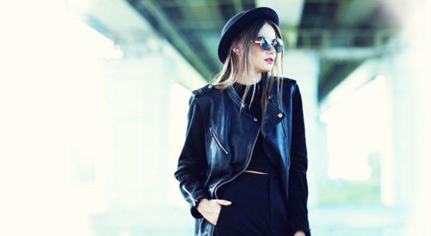 Какую шапку носить с курткой: под кожаную куртку шляпа черная с полями
