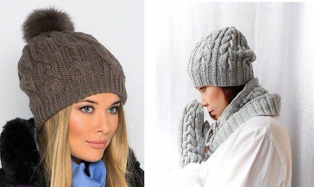 Какую шапку носить с курткой: серые вязанные