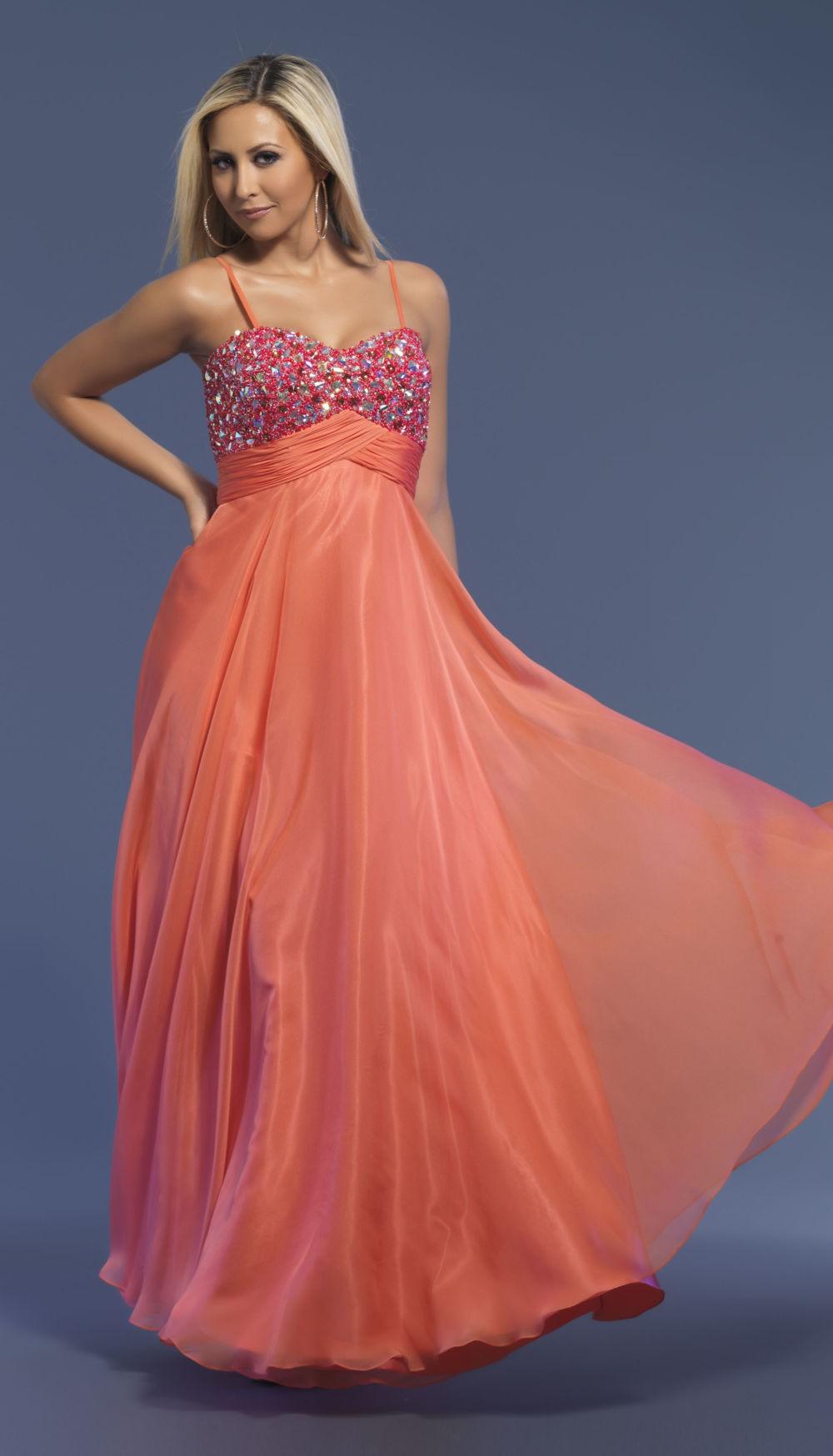 Коралловое платье с чем носить:платье на лямках юбка шифон