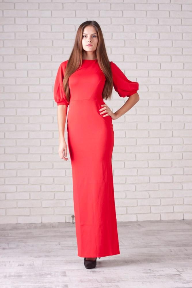 коралловые платья с чем носить: в пол рукава фонарики