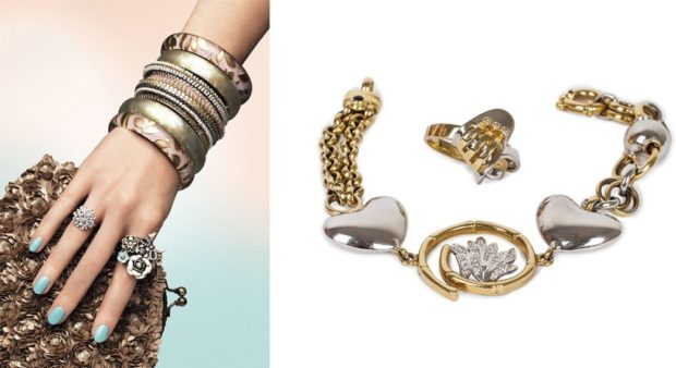 коралловые платья с чем носить: украшения серебро-золото