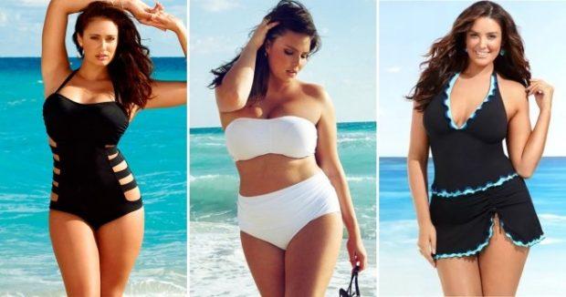 Купальники больших размеров для полных женщин: цельный черный белый раздельный