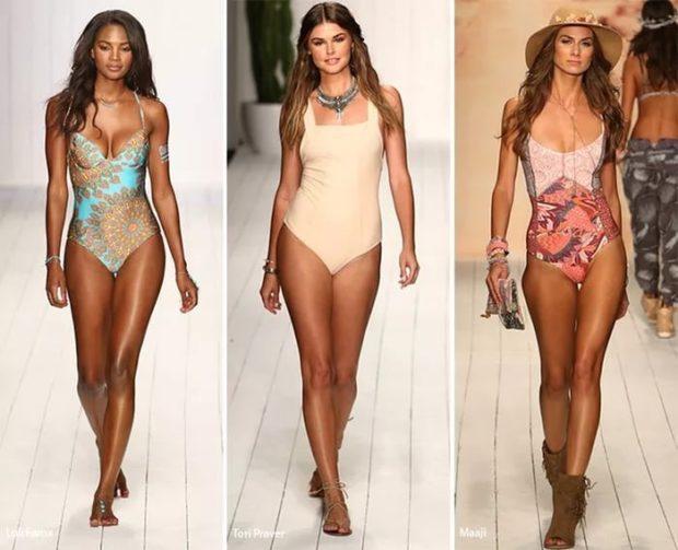 купальники 2022-2023 года цельные светлые модные тенденции фото