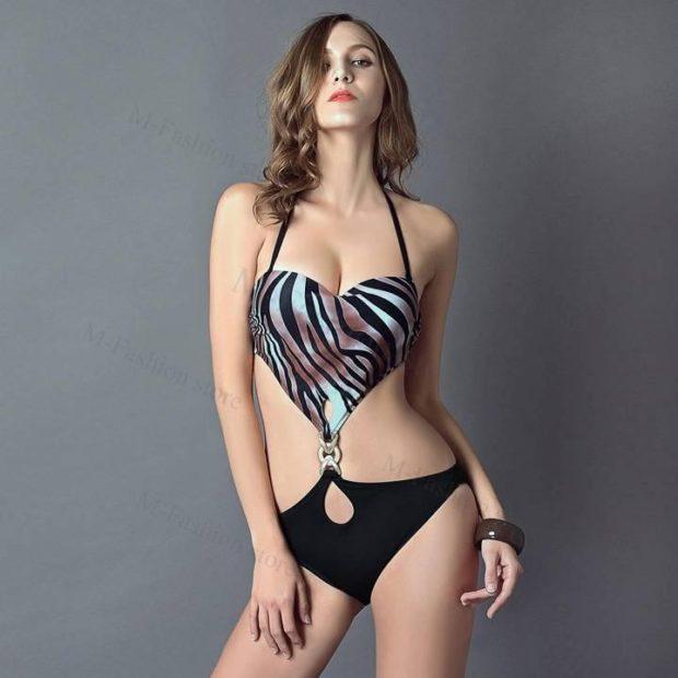 слитный купальник 2018 года зебра модные тенденции фото