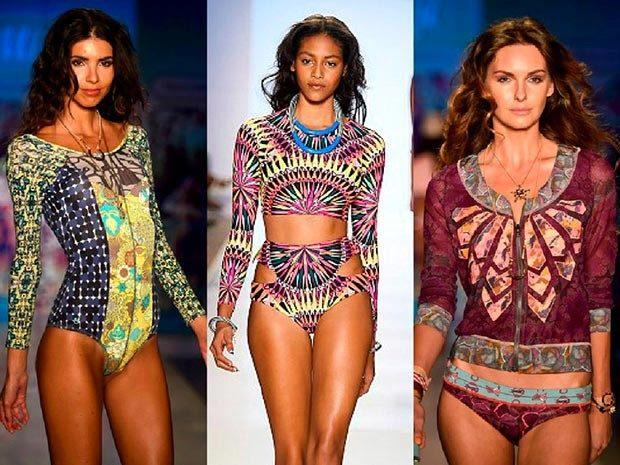 купальники 2022-2023 года модные тенденции фото цветные цельный ретро