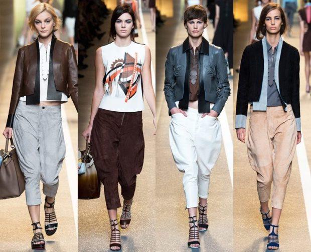 Луки с брюками и джинсами осень-зима 2019-2020: широкие серые и белые бежевые