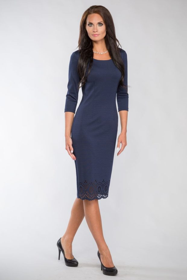 Модные луки: платье офисное
