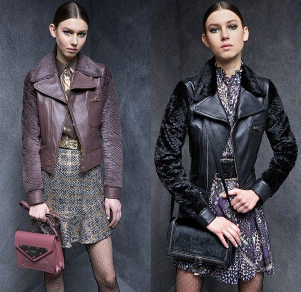 луки осень-зима 2019-2020 куртки кожаные коричневая черная