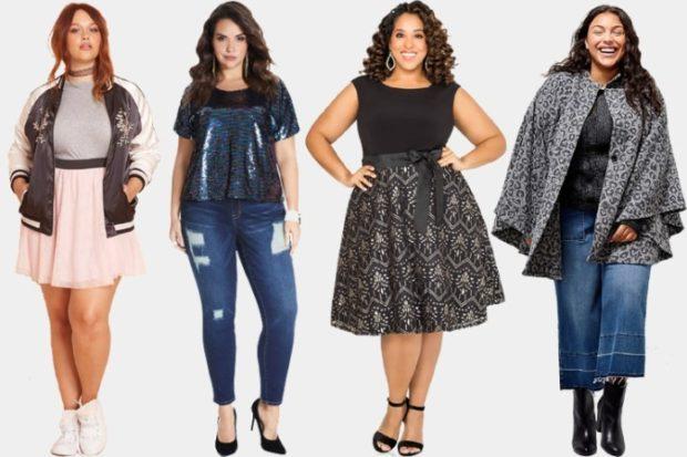 Мода для полных женщин 2020-2021 фото за 40 лет: юбки платья джинсы пальто