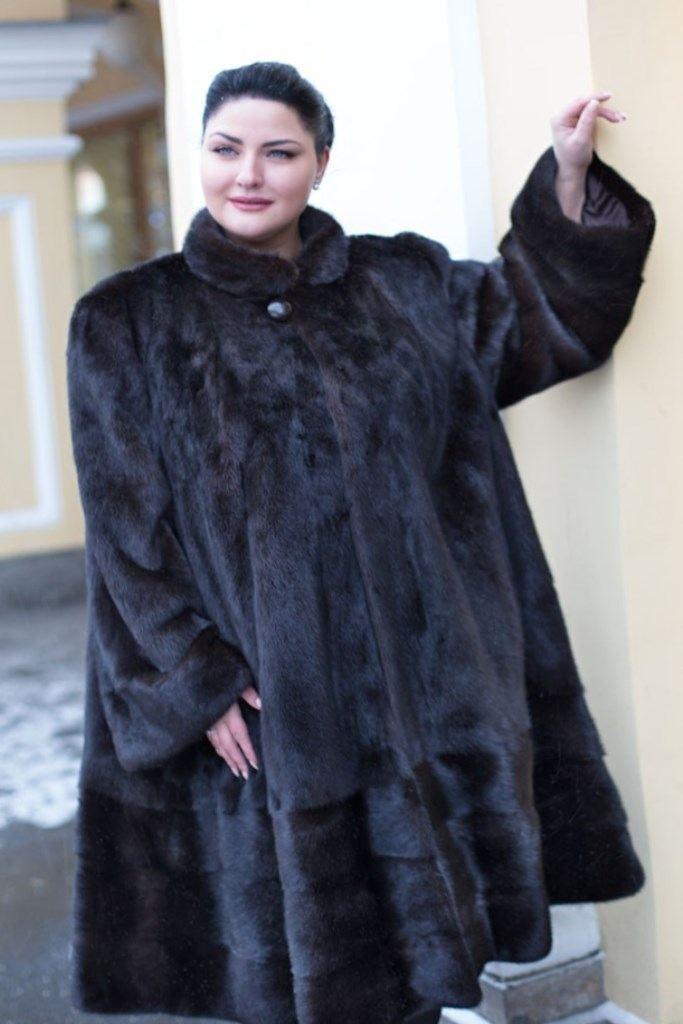 Мода для полных женщин 2018 фото за 40 лет: шуба натуральная удлиненная