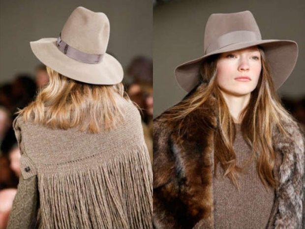 Модные головные уборы весна лето 2018: шляпы с полями светлые фетровые