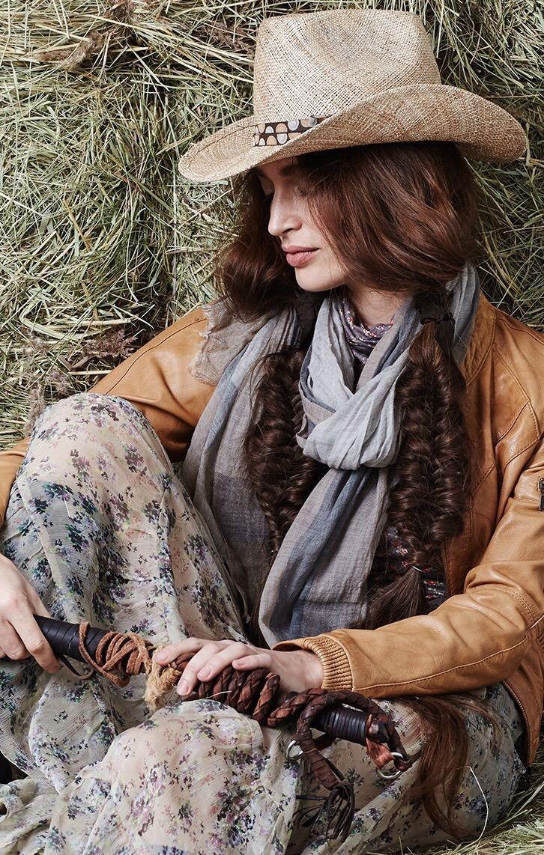 Модные головные уборы весна лето 2018: ковбойская шляпа коричневая