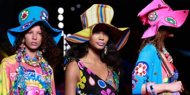 головные уборы весна лето 2018: шапки большие цветные