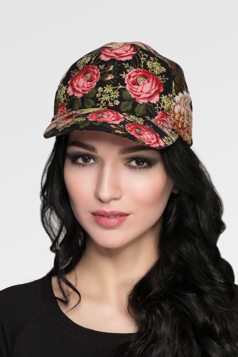 Модные головные уборы весна лето 2018: кепка в цветы