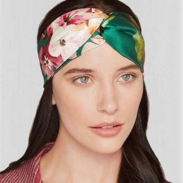 головные уборы на лето для женщин: ретро-повязки в цветы
