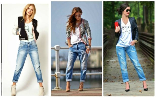 модные образы весна лето 2020: джинсы, свитер, жилет