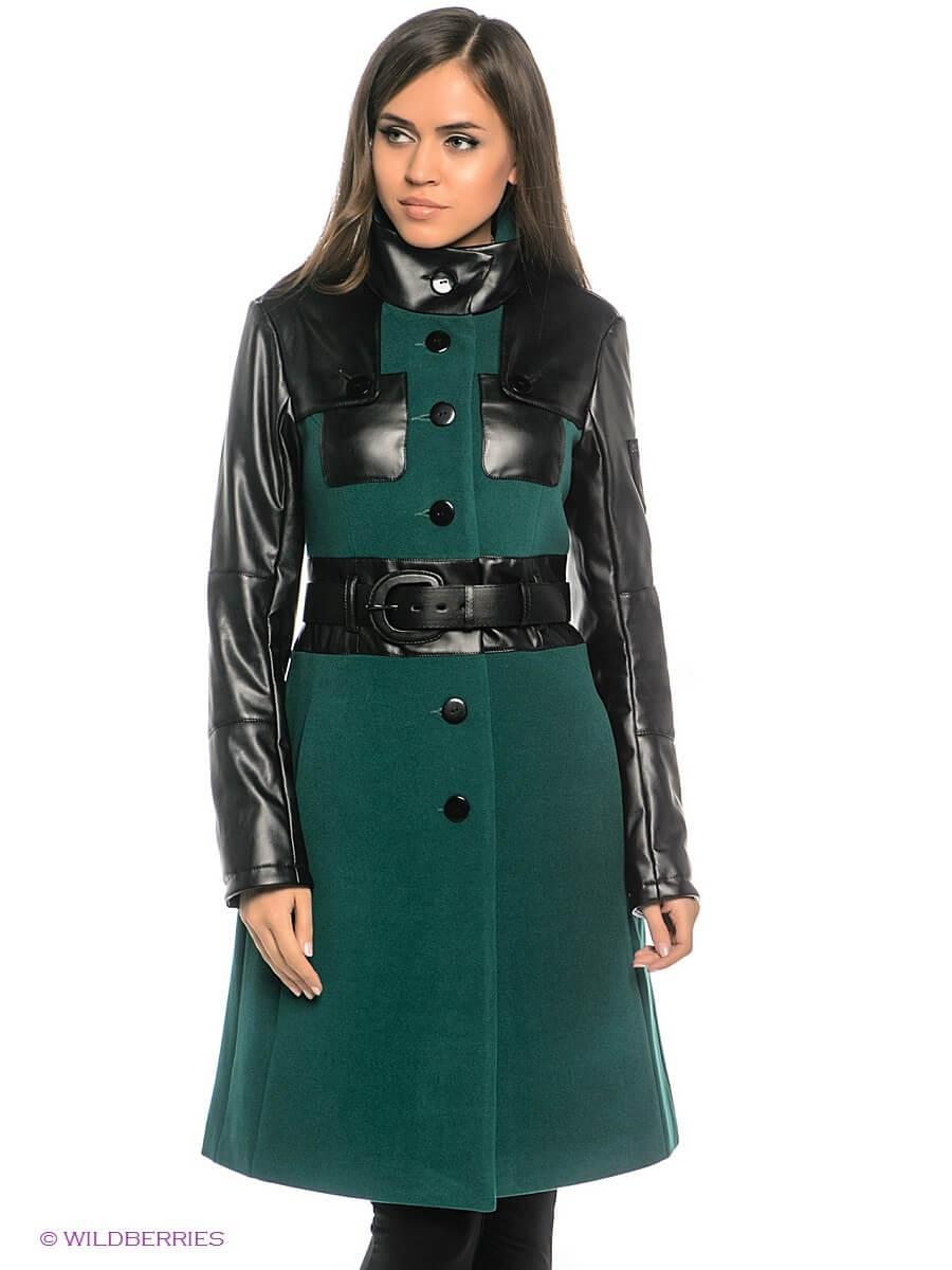 женские образы весна 2020: пальто с кожаными вставками