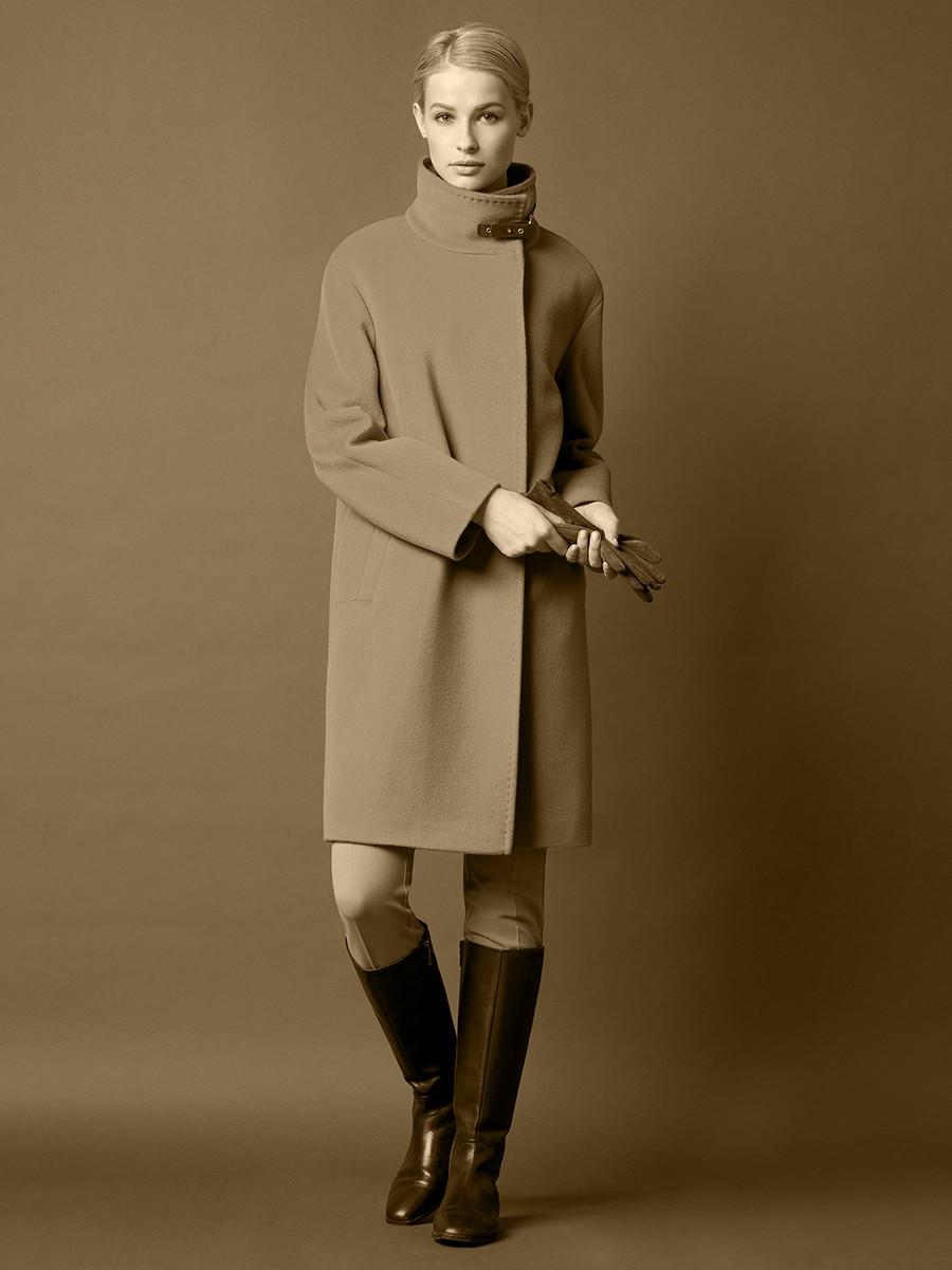 образы весна 2019 женские: пальто со стоячим воротником
