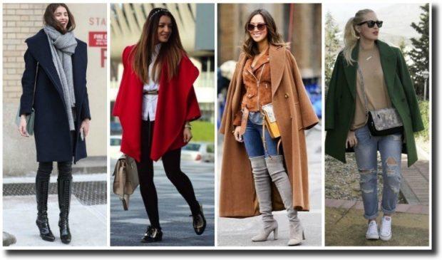 женские образы весна 2020: с пальто джинсы брюки