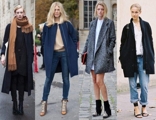 Модные образы весна 2018 на каждый день: образы с пальто ,джинсы брюки