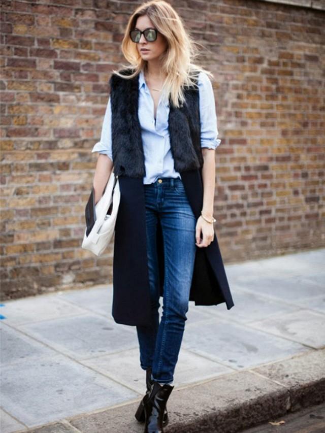 Модные образы весна 2020 на каждый день: с пальто джинсы