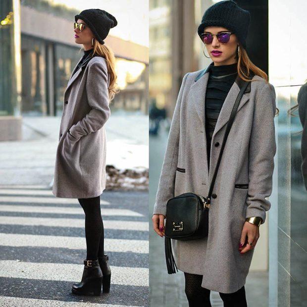 Модные образы весна 2020 на каждый день: с пальто брюки