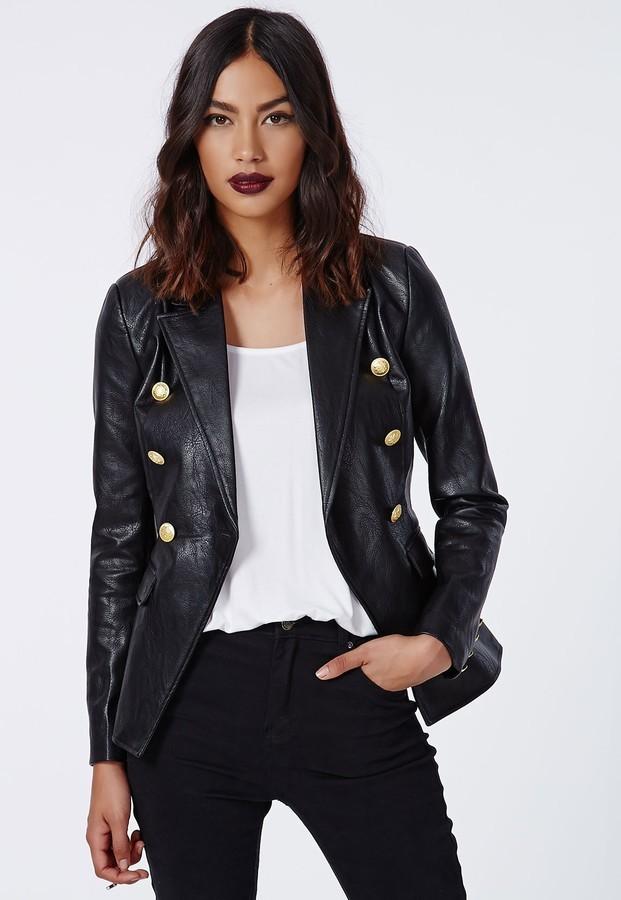 Модные образы весна 2020 на каждый день: кожаный пиджак черный