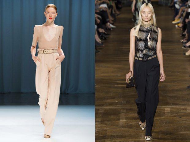 Модные образы весна 2020 на каждый день: с брюками и кофточкой