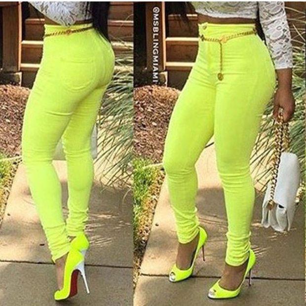 Модные образы весна 2020 на каждый день: яркие брюки,желтые