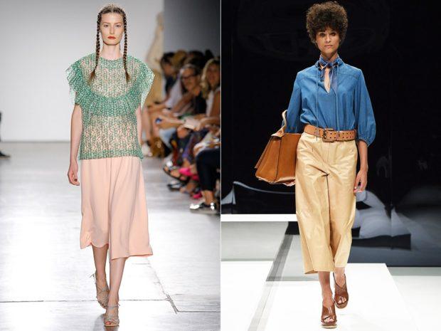Модные образы весна 2020 на каждый день: яркие брюки,розовые и золотистые