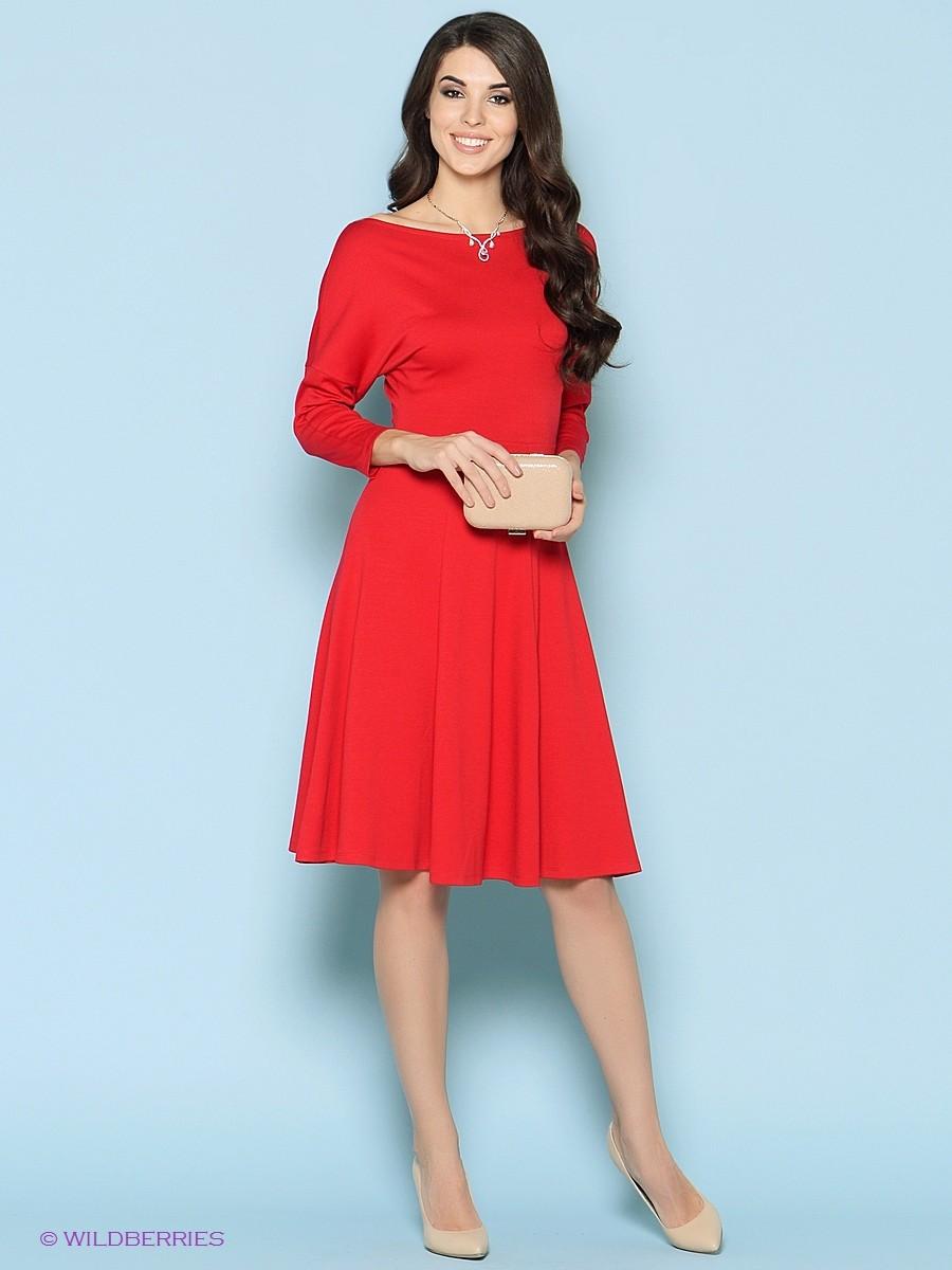 Модные образы весна 2018 на каждый день: платье красное