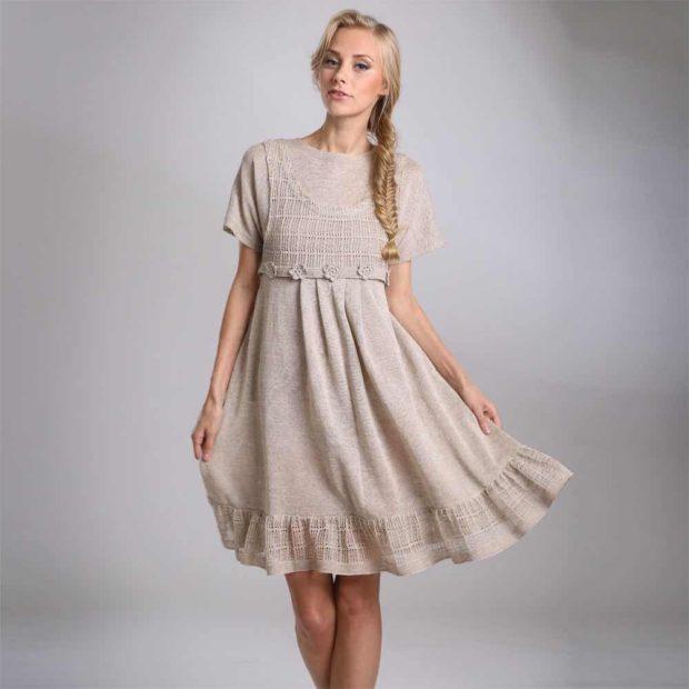 Модные образы весна 2018 на каждый день: платье серое