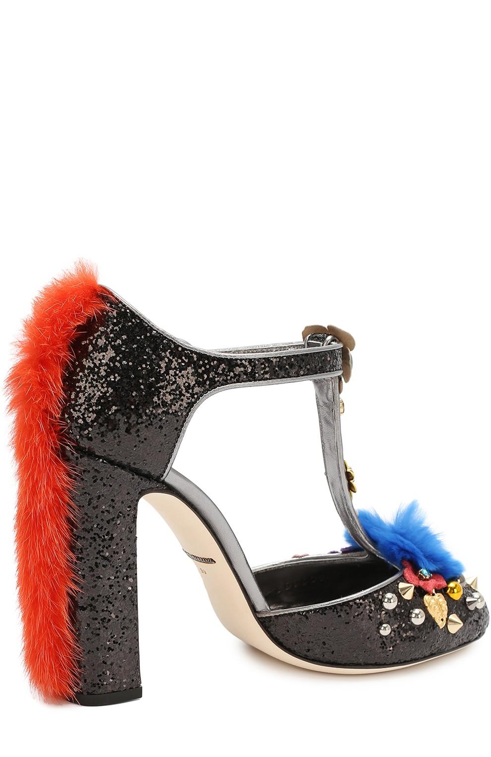 Модные туфли 2019 фото: каблук с мехом носок в камни