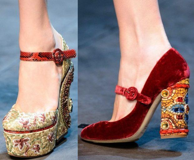 Модные туфли 2018-2019 фото: с декором