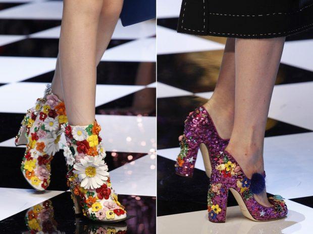Модные туфли 2018-2019 фото: в цветы