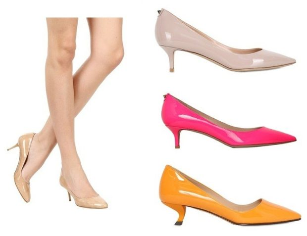 Модные туфли 2018-2019 фото: лодочки низкий ход бежевые розовые оранжевые