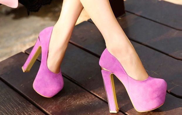 Модные туфли 2018-2019 фото: розовые платформа и каблук
