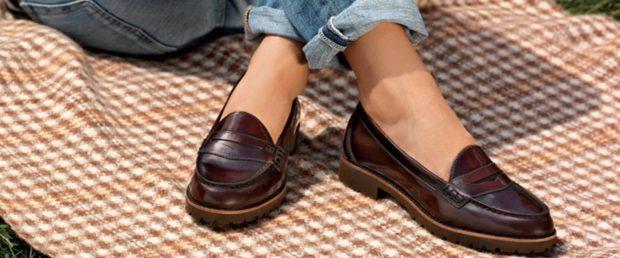 Модные туфли 2018-2019 фото: лоферы коричневые