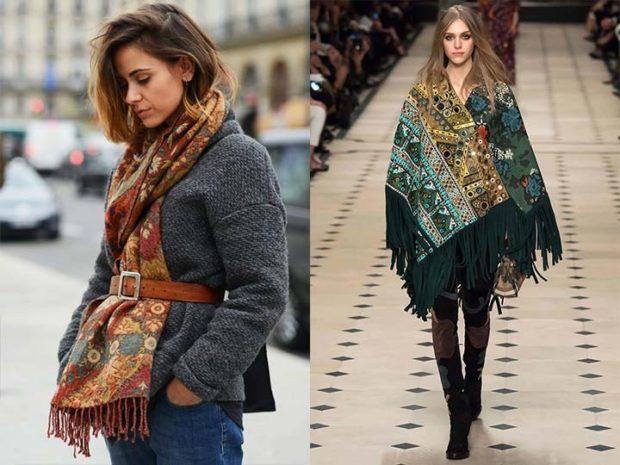 модный шарф 2018 2019: палантин в принт