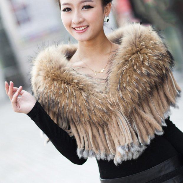 модный шарф 2018 2019: шарф меховой накидка