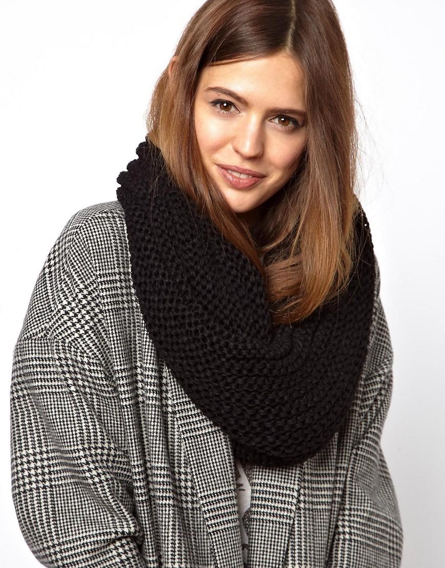 модный шарф 2018 2019: хомут черный