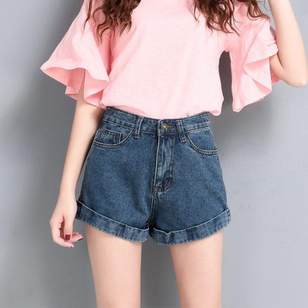 модные женские шорты 2019: джинсовые свободные