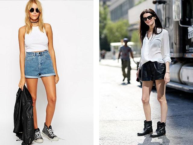 с высокой талией джинсовые кожаные черные