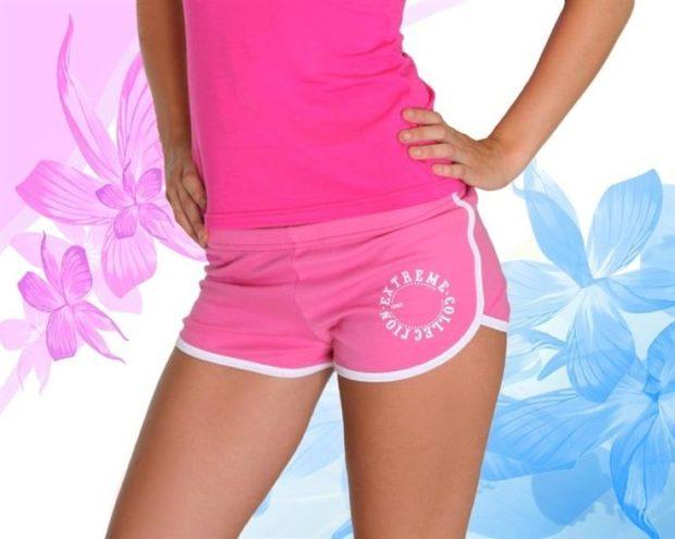 спортивные короткие розовые