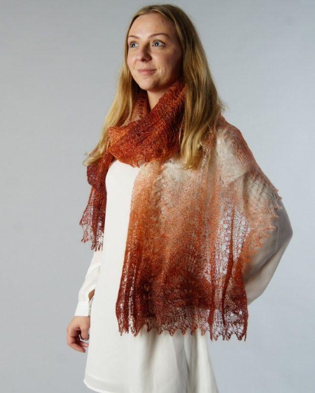 палантин как носить: бежевый носить как шарф