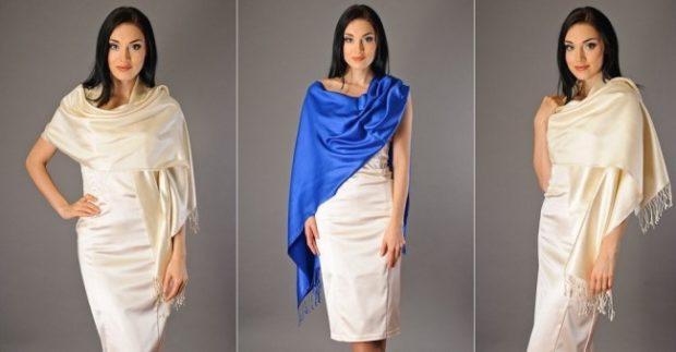 палантин с чем носить: как накидка на платье