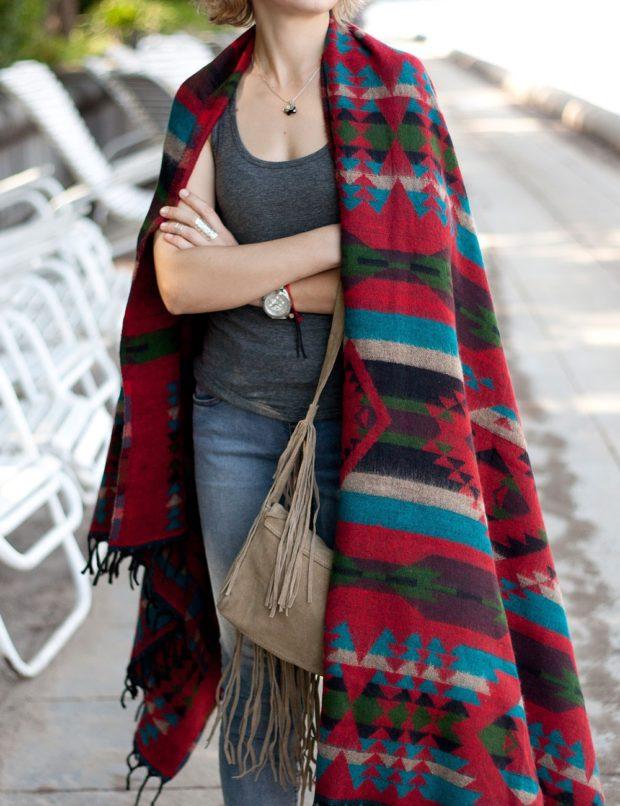 как носить палантин: в орнамент как пальто